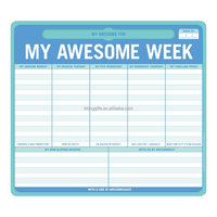 2017 Hotsale Sticky Notes Memo Mouse Pad with Weekly Planer for Office