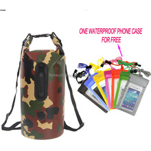 Special and Hot Waterproof Camo Backpack Drypacks With A Free Waterproof Phone Case