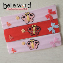 butterfly pattern hair accessories stretchy Cute headband