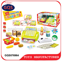 Cash register toys with the scanner set shopping for kids WITH SOUND LIGHT
