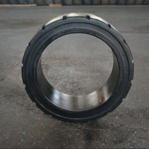 21x7x15 solid tyre hota tyre solid rubber tires from China factory