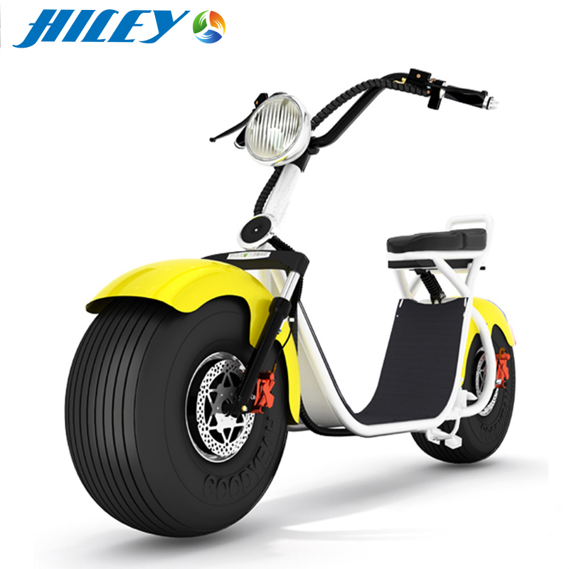 CE RoHS MSDS Citycoco Two Wheel Electric Motorcycle 1000W 1500W