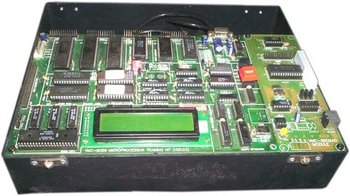 8086/8088 MICROPROCESSOR TRAINING KIT WITH LCD DISPLAY, A/D, D/A & IN-BUILT POWER SUPPLY