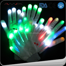 China manufacturers light up led magic gloves for kids flashlight led gloves