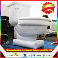 Household decorates advertising Inflatable toilet model with factory lower price
