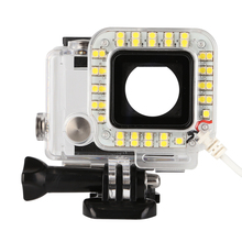 SHOOT waterproof cover LED Ring Shooting Night Fill Light for GoPro Hero 5 4s 4 3 2 1 Camera For Go Pro Accessories