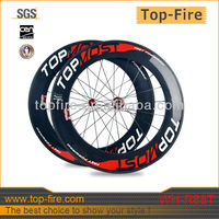 2013 new design 700C full carbon bicycle wheels racing bike wheels 88mm carbon wheels tubular for sale