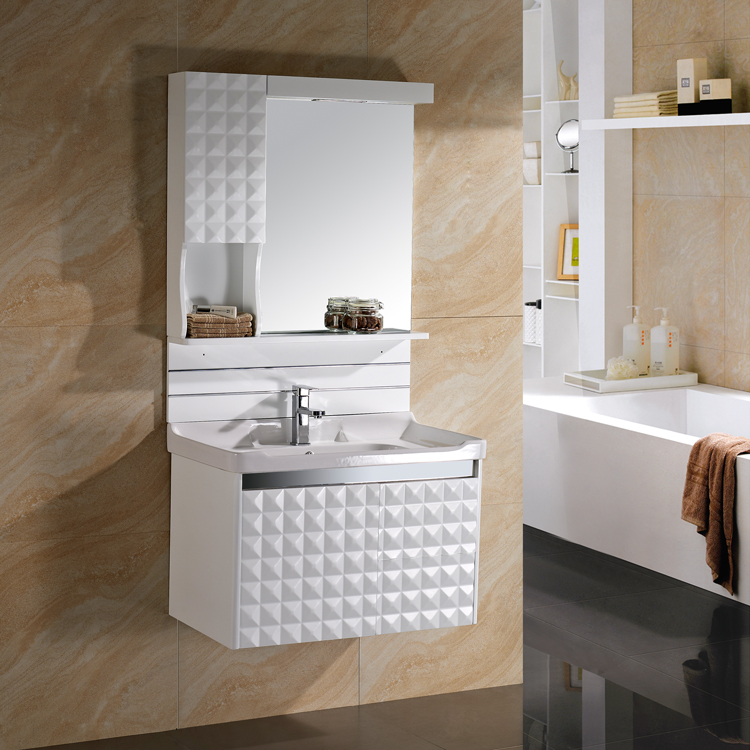 Hot Sale PVC Bathroom Vanity With Side Cabinet