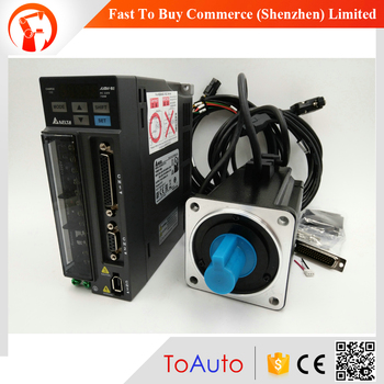 Delta 750W AC Servo Motor Drive Kit 0.75KW Servo System ECMA-C20807RS+ASD-B2-0721-B 3000rpm 80mm with 3m Cable Original New