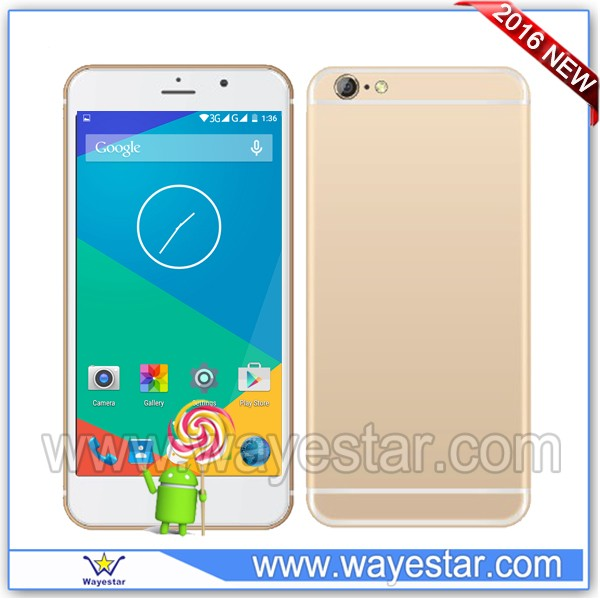 OEM 6 inch quad core cell phone dual sim card unlocked android smartphone with wifi bluetooth
