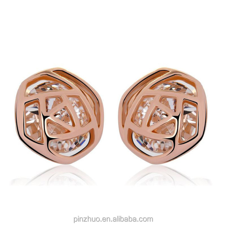 <strong>18</strong> <strong>k</strong> gold jewelry,rose gold ladies earrings designs <strong>pictures</strong>
