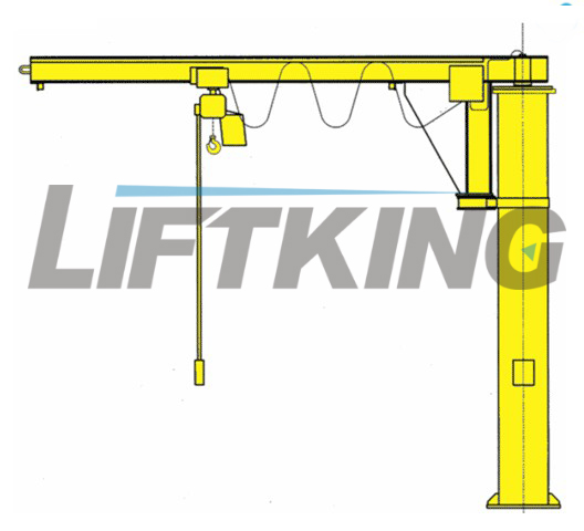 mobile floor jib cranes , material handling equipments , lifting machine