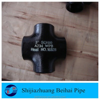 "3"" cs joint pipe fitting steel cross sch80"