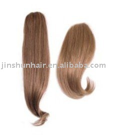human hair integration hair pieces - Multiple attachment of hair type