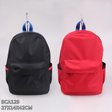 New design wholesale simple style large capacity pure color backpack