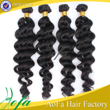 High and super quality on sale brazilian virgin remy unprocessed ocean wave human hair weave