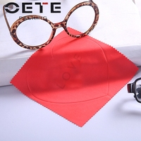 Custom logo print glasses use microfiber cleaning cloth wholesale