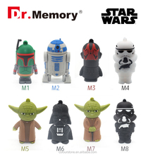 Dr.memory 2016 new product full capacity Cartoon Character usb 2.0,Ghost shape silicone usb flash drive 1-64GB