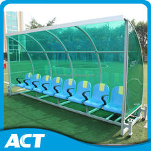 Hot sale! Outdoor team shelter with individual seats, stadium eats, team shelter for football field