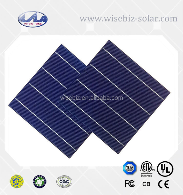 Price of a solar cell grade A 156 mm poly solar cell made in Taiwan