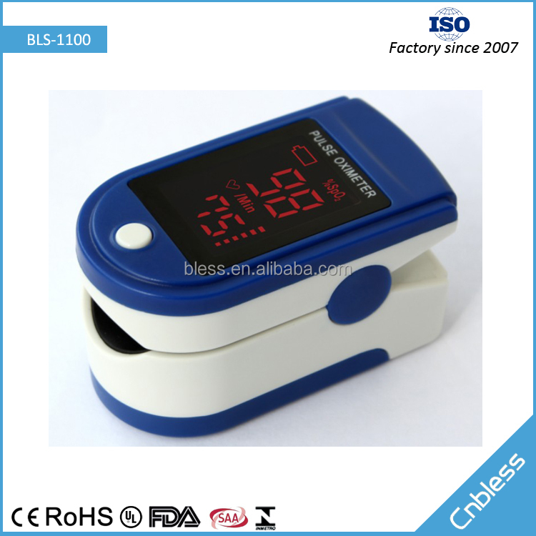 Finger Blood Pressure Monitor BLS-1100 CE,ROhs Approved SPO2 Value Display Low-voltage Indication