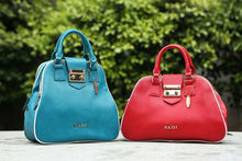 badi newest pu tote good quality pu lock is genuine leather real leather