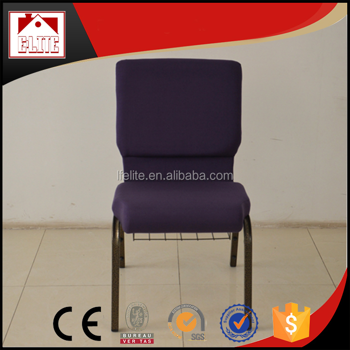 2016 Wholesale stackable padded church chairs