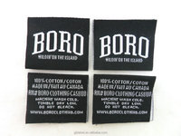 black center folding washing care clothing labels and tags