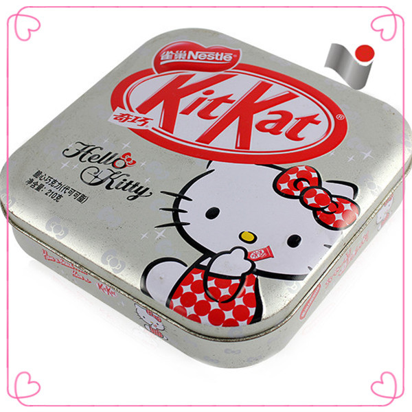 Arc metal tin sliver empty cookies can