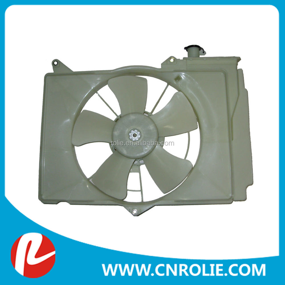hot selling toyota accessories auto spare parts radiator fan 16711-21030 16363-23030 16711-0M030 for yaris 99-05 vios 03