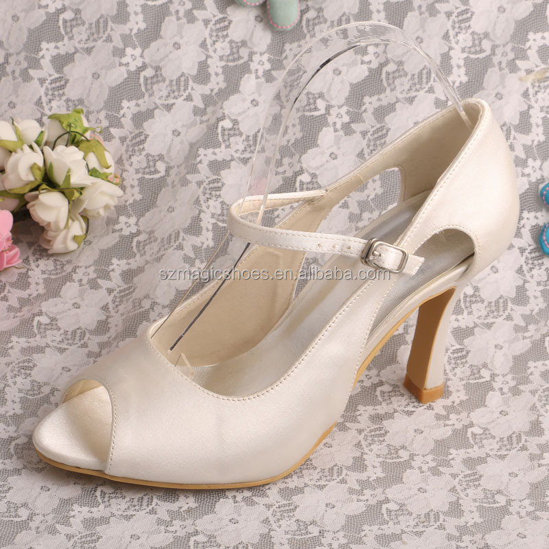 Women's Ivory Mary Jane Shoes Heels