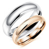 High quality stainless steel jewelry new simple silver& gold color o ring design for couples GJ504