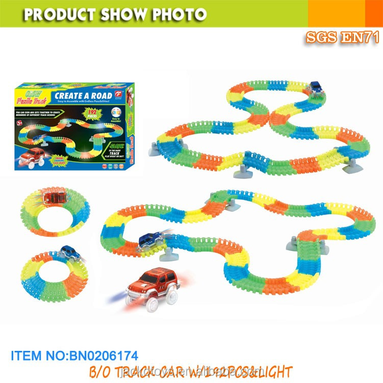 Magic track car slot toy racing car with one car