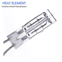 Quartz filament quartz tube short wave infrared holder ir lamp heater