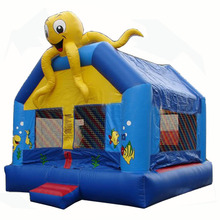 Commercial Sea Bounce IV inflatable bouncer jumper, Octopus sea world bounce house bouncy castle for kids