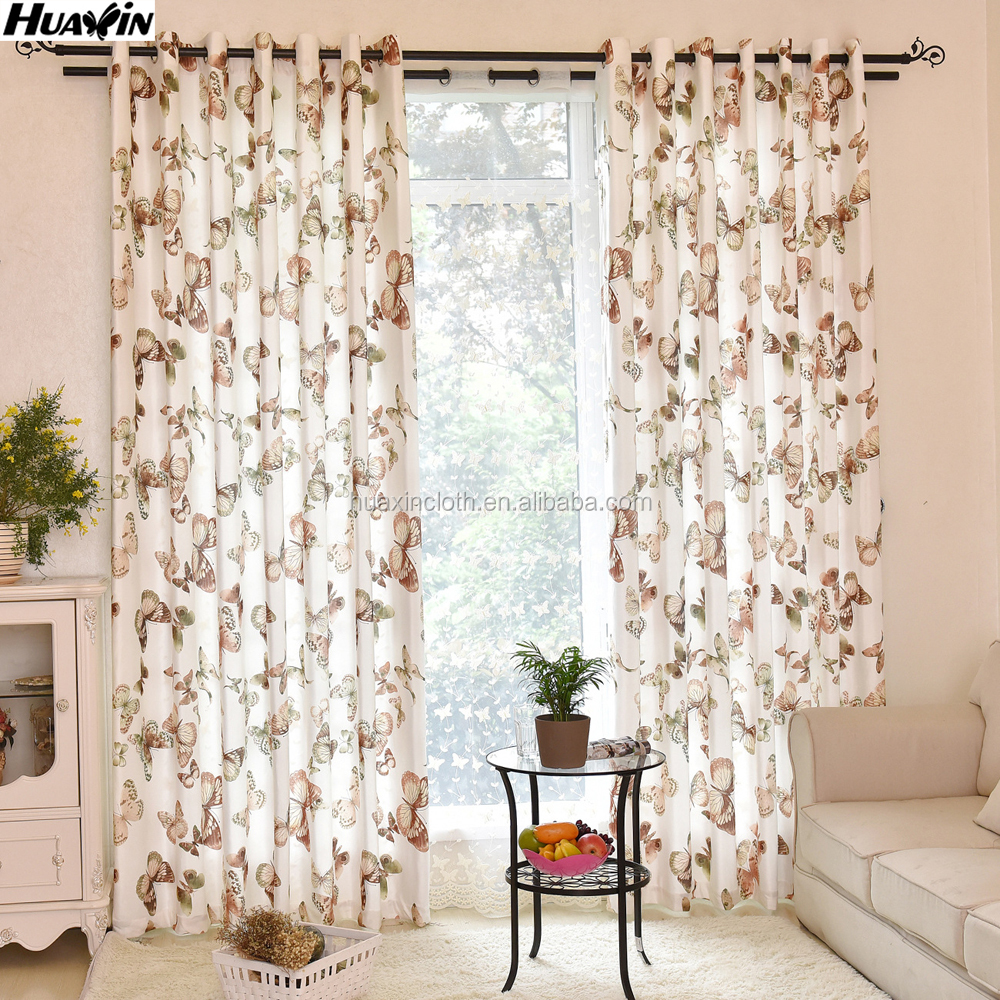 butterfly printed velvet curtain fabric,printed butterfly curtain drape fabric