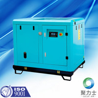 Rotary screw air compressors without air tank
