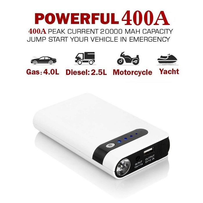 2017 fashion multi-function mini jump starter power bank max battery charger 8000mah micro starter