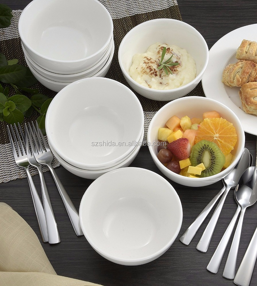 "wholesale white porcelain 6"" cereal bowl / hotel restaurant ceramic fruit bowl mango shape porcelain ceramic dinner salad"