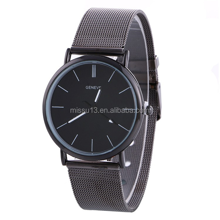 wholesale watches men sport 2017 new style metal mesh strap watch strap