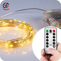 Waterproof 5M 50LED Battery Operated Remote Control Outdoor String Lights With Timer