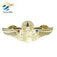 Decoration Souvenir Custom Metal Wing Type Pin Badge With Your Own Design