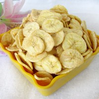 Vacuum Fried banana chips VF banana chips silices Fruit Snacks fruit chips