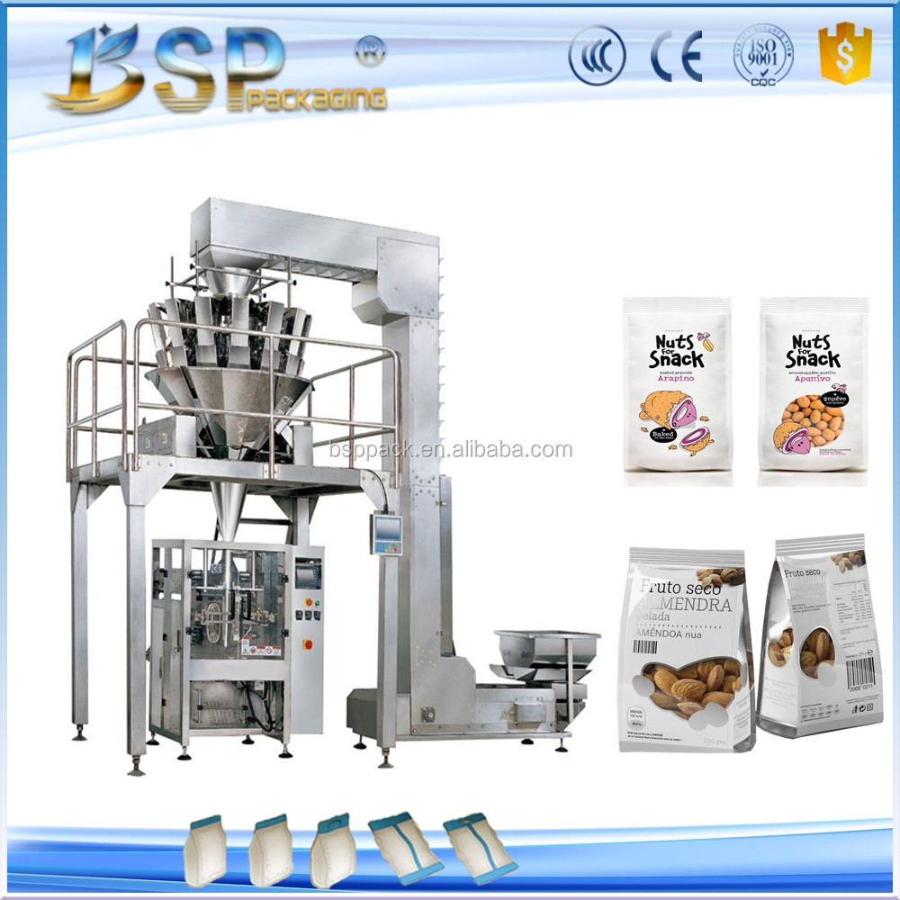 100g-5kg Automatic good accurancy weighing scale nut granule pouch packing machine