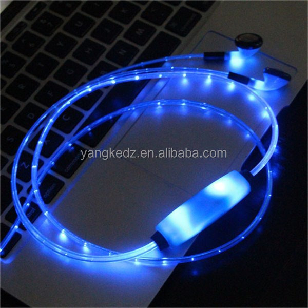 2015 new research and develop led light earphones