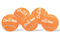 Doggy Fun 5 Ball Pack - 5 Small Replacement Toy Dog Balls for the Doggy Fun Automatic Dog Ball Launcher Automatic Fetch Machine