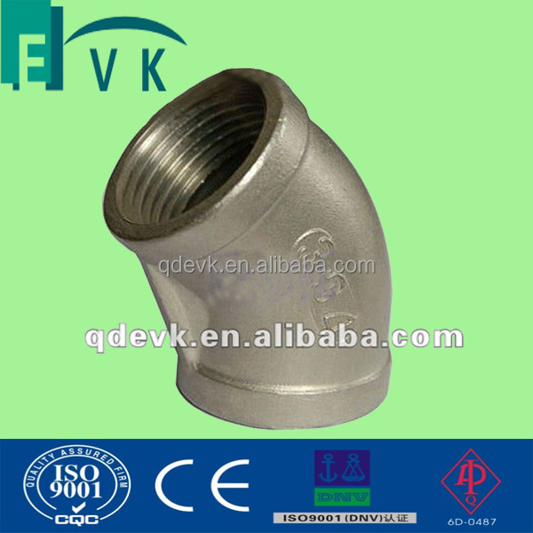 forged steel 45 degree NPT threaded end elbow