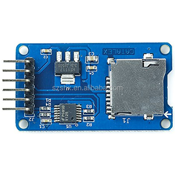 Micro SD SDHC TF Card Slot Adapter cardreader sheild Module Board SPI for Arduinos sample sale online