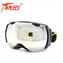 New model customized Brand strap TPU Antifog Mirror REVO Dual Lens super wide angle Snowboarding Ski Goggle Manufacturer