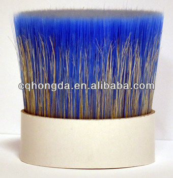 BLUE MIXTURE BRISTLES WITH TAPERED FILAMENTS